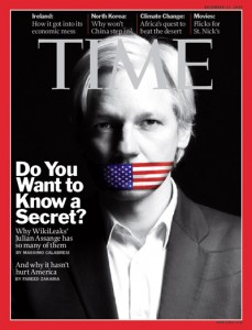 Julian Assange en la revista TIME
